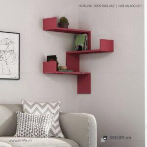 Kệ gỗ gắn tường trang trí hiện đại Walker  - Vì một sứ mệnh nội thất gỗ tự lắp ráp | SMLIFE