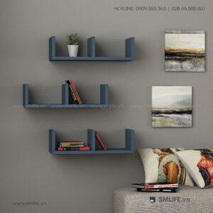 Kệ gỗ gắn tường trang trí hiện đại Waller  - Vì một sứ mệnh nội thất gỗ tự lắp ráp | SMLIFE