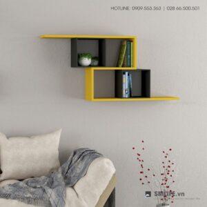 Kệ gỗ gắn tường trang trí hiện đại Walost  - Vì một sứ mệnh nội thất gỗ tự lắp ráp | SMLIFE