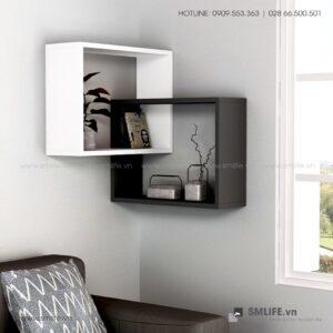 Kệ gỗ gắn tường trang trí hiện đại Warner  - Vì một sứ mệnh nội thất gỗ tự lắp ráp | SMLIFE