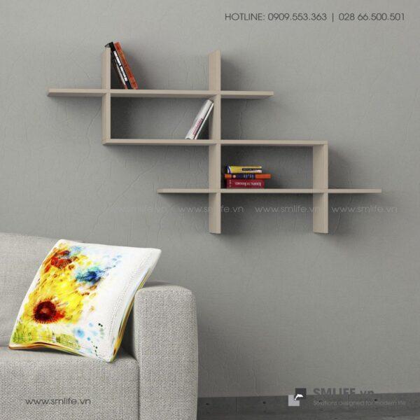 Kệ gỗ gắn tường trang trí hiện đại Warren  - Vì một sứ mệnh nội thất gỗ tự lắp ráp | SMLIFE