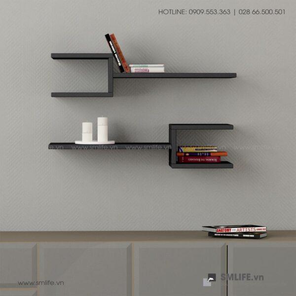 Kệ gỗ gắn tường trang trí hiện đại Webbs  - Vì một sứ mệnh nội thất gỗ tự lắp ráp | SMLIFE
