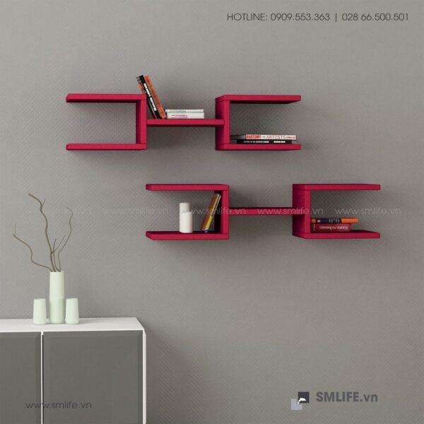 Kệ gỗ gắn tường trang trí hiện đại Welby  - Vì một sứ mệnh nội thất gỗ tự lắp ráp | SMLIFE