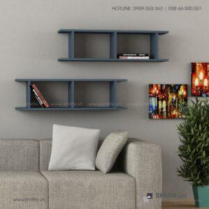 Kệ gỗ gắn tường trang trí hiện đại Wellard  - Vì một sứ mệnh nội thất gỗ tự lắp ráp | SMLIFE