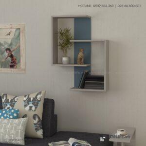 Kệ gỗ gắn tường trang trí hiện đại Wendy  - Vì một sứ mệnh nội thất gỗ tự lắp ráp | SMLIFE