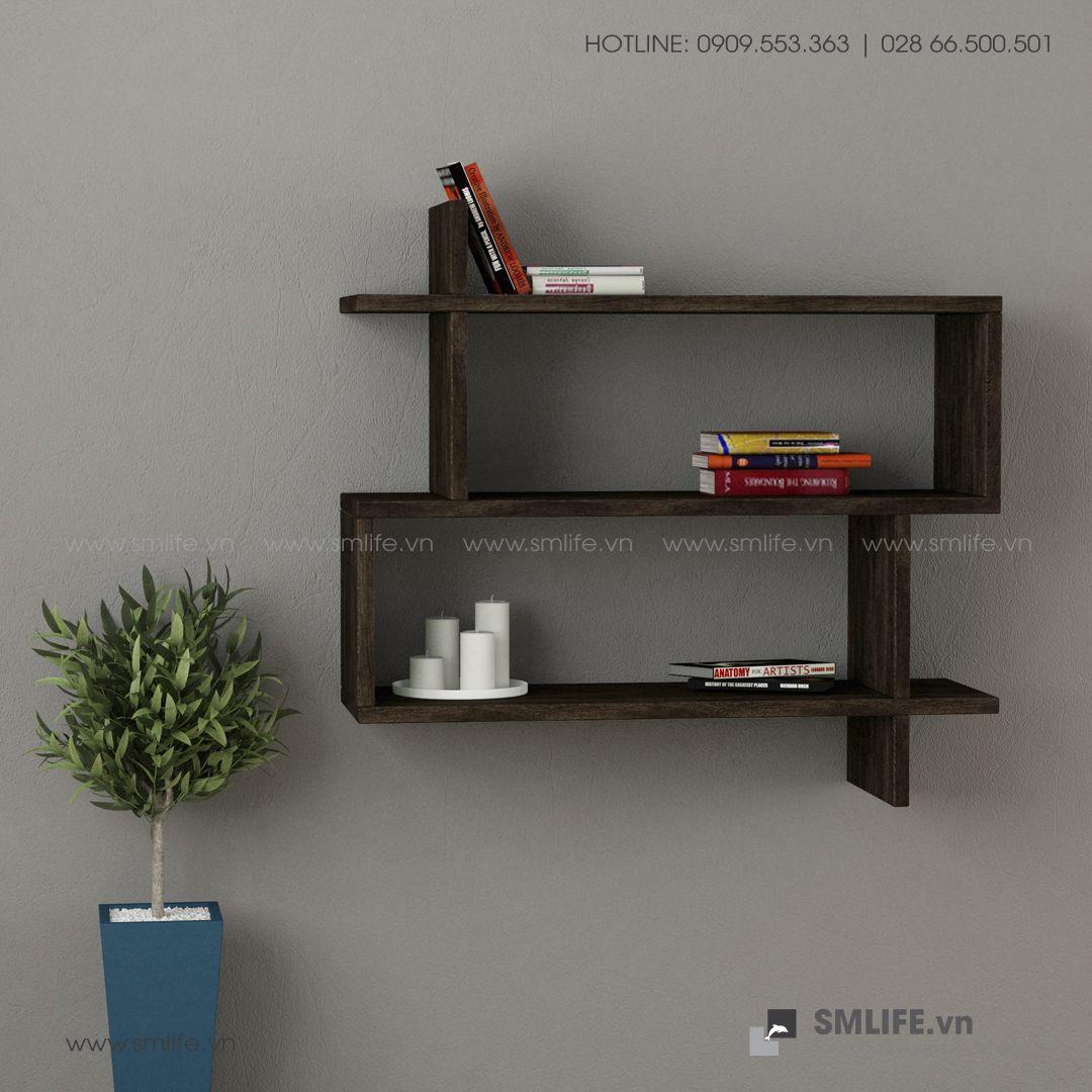 Kệ gỗ gắn tường trang trí hiện đại Westcott  - Vì một sứ mệnh nội thất gỗ tự lắp ráp   SMLIFE