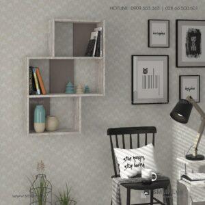Kệ gỗ gắn tường trang trí hiện đại Wetzel  - Vì một sứ mệnh nội thất gỗ tự lắp ráp | SMLIFE