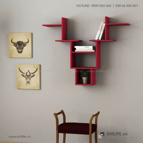 Kệ gỗ gắn tường trang trí hiện đại Whitetail  - Vì một sứ mệnh nội thất gỗ tự lắp ráp | SMLIFE