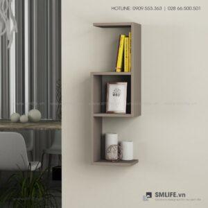 Kệ gỗ gắn tường trang trí hiện đại Wieland  - Vì một sứ mệnh nội thất gỗ tự lắp ráp | SMLIFE