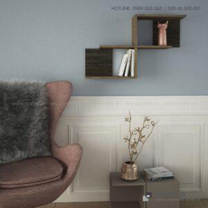 Kệ gỗ gắn tường trang trí hiện đại Wilfred  - Vì một sứ mệnh nội thất gỗ tự lắp ráp | SMLIFE