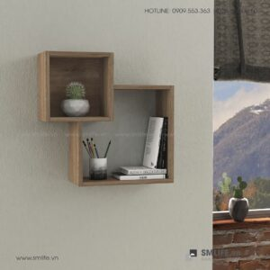 Kệ gỗ gắn tường trang trí hiện đại Wilkins  - Vì một sứ mệnh nội thất gỗ tự lắp ráp | SMLIFE