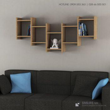 Kệ gỗ gắn tường trang trí hiện đại Willett  - Vì một sứ mệnh nội thất gỗ tự lắp ráp | SMLIFE