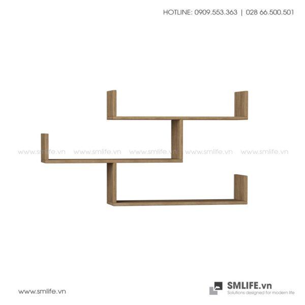 Kệ gỗ gắn tường trang trí hiện đại Wilton  - Vì một sứ mệnh nội thất gỗ tự lắp ráp | SMLIFE