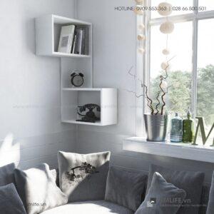 Kệ gỗ gắn tường trang trí hiện đại Wingate  - Vì một sứ mệnh nội thất gỗ tự lắp ráp | SMLIFE