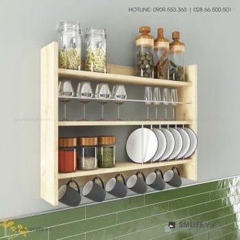 Kệ gỗ nhà bếp Kolin  - Vì một sứ mệnh nội thất gỗ tự lắp ráp | SMLIFE