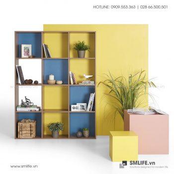 Kệ sách gỗ hiện đại Barnes  - Vì một sứ mệnh nội thất gỗ tự lắp ráp | SMLIFE
