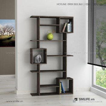 Kệ sách gỗ hiện đại Barrett  - Vì một sứ mệnh nội thất gỗ tự lắp ráp | SMLIFE