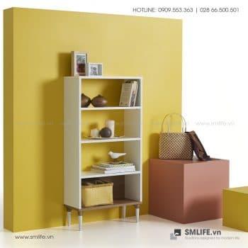Kệ sách gỗ hiện đại Becker  - Vì một sứ mệnh nội thất gỗ tự lắp ráp | SMLIFE