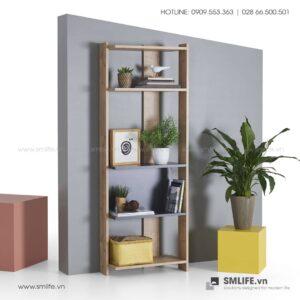 Kệ sách gỗ hiện đại Bowie  - Vì một sứ mệnh nội thất gỗ tự lắp ráp | SMLIFE