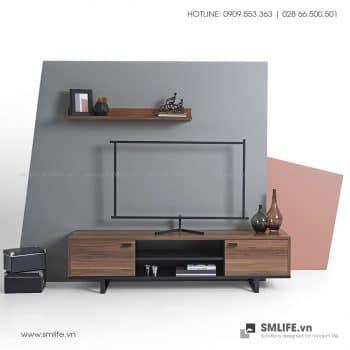 Kệ tivi gỗ hiện đại Berkeley  - Vì một sứ mệnh nội thất gỗ tự lắp ráp | SMLIFE