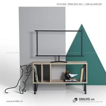 Kệ tivi gỗ hiện đại Brooke  - Vì một sứ mệnh nội thất gỗ tự lắp ráp | SMLIFE