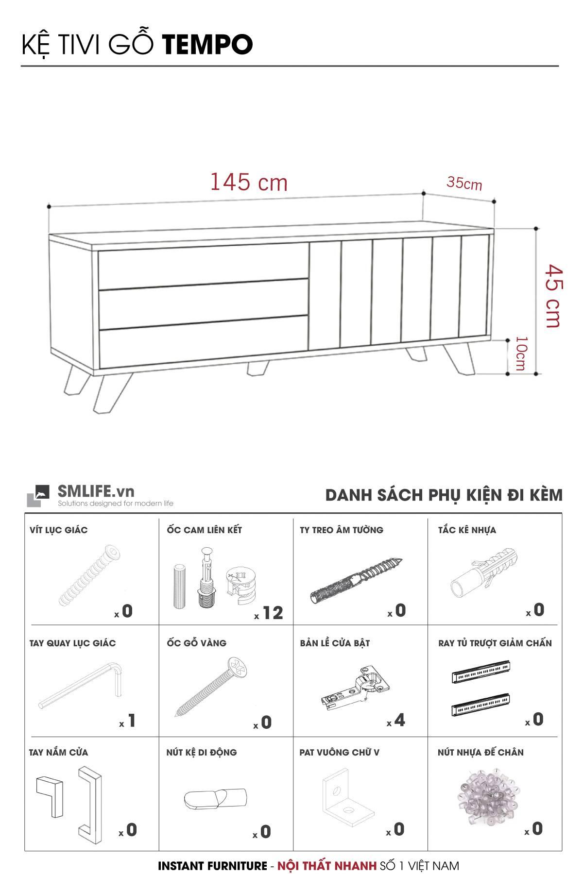 Kệ tivi gỗ hiện đại Tempo (22)