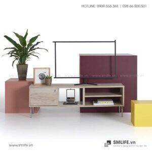 Kệ tivi gỗ hiện đại Thayer  - Vì một sứ mệnh nội thất gỗ tự lắp ráp | SMLIFE