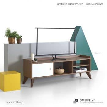 Kệ tivi gỗ hiện đại Turner  - Vì một sứ mệnh nội thất gỗ tự lắp ráp | SMLIFE