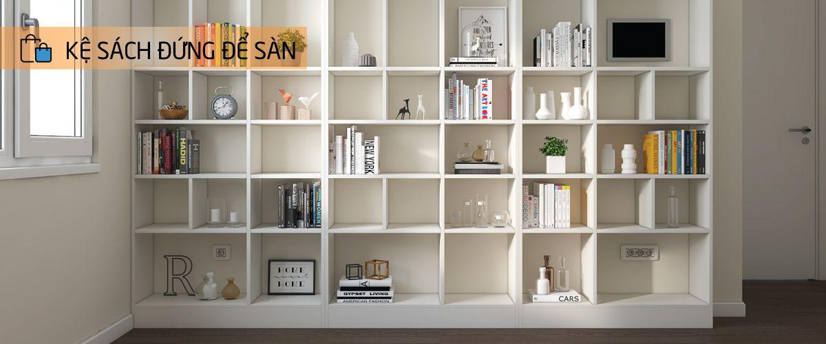 Danh mục kệ sách đứng để sàn | SMLIFE.vn