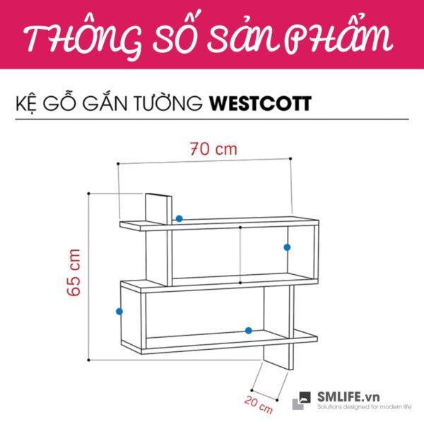 _0067_Kệ gỗ gắn tường trang trí hiện đại Westcott (15)