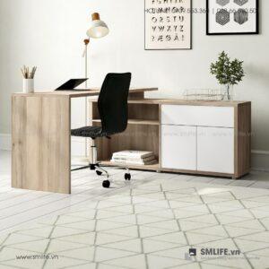 Bàn làm việc, bàn học gỗ hiện đại Dagen (1)