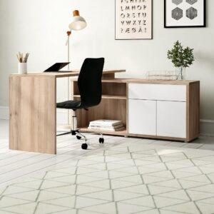 SMLIFE | Bàn làm việc, bàn học gỗ hiện đại Dagen