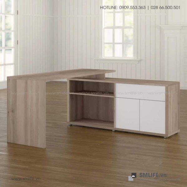 Bàn làm việc, bàn học gỗ hiện đại Dagen (3)