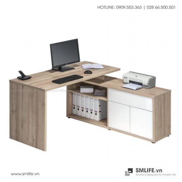 Bàn làm việc, bàn học gỗ hiện đại Dagen (4)