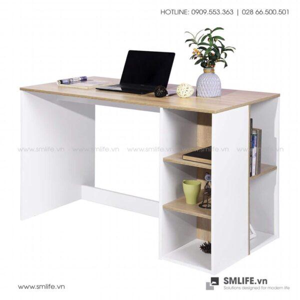 Bàn làm việc, bàn học gỗ hiện đại Deepak (1)