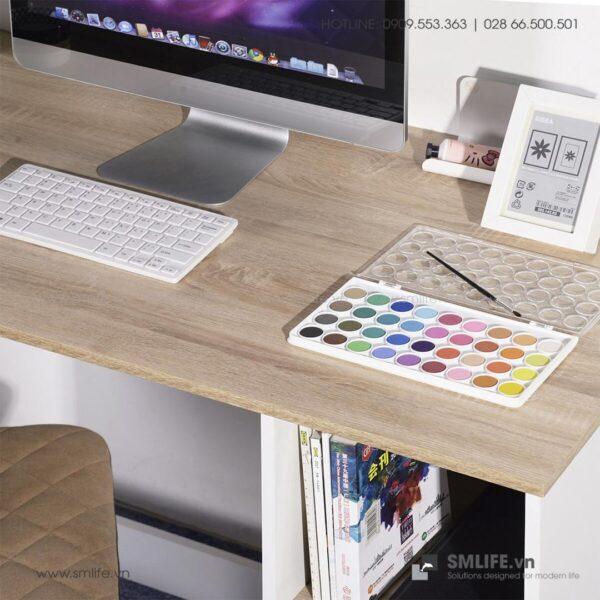 Bàn làm việc, bàn học gỗ hiện đại Deepak (3)