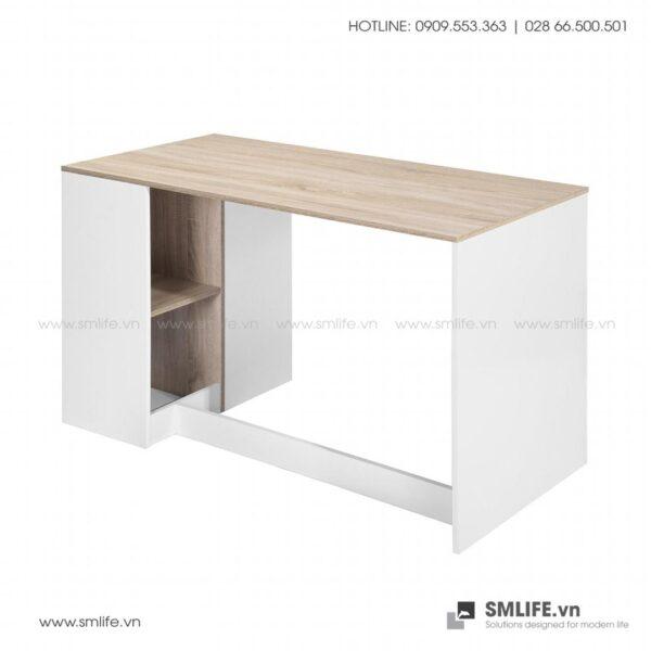 Bàn làm việc, bàn học gỗ hiện đại Deepak (6)
