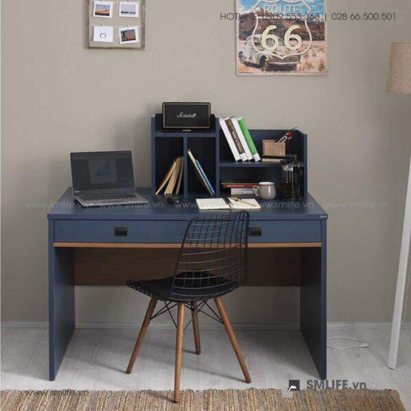 Bàn làm việc, bàn học gỗ hiện đại Delphine (1)