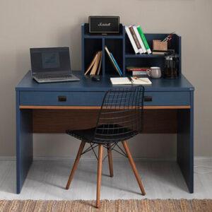 Bàn làm việc, bàn học gỗ hiện đại Delphine (1.1)
