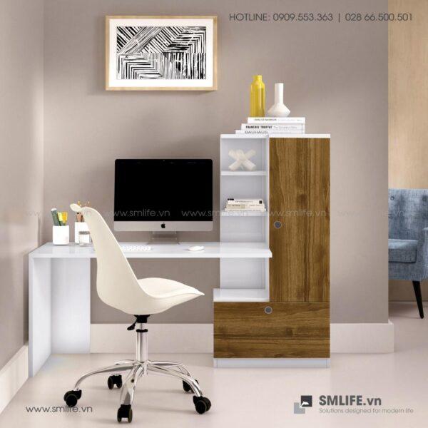 Bàn làm việc, bàn học gỗ hiện đại Devin (1)