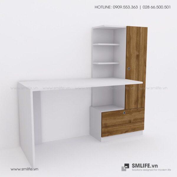 Bàn làm việc, bàn học gỗ hiện đại Devin (4)
