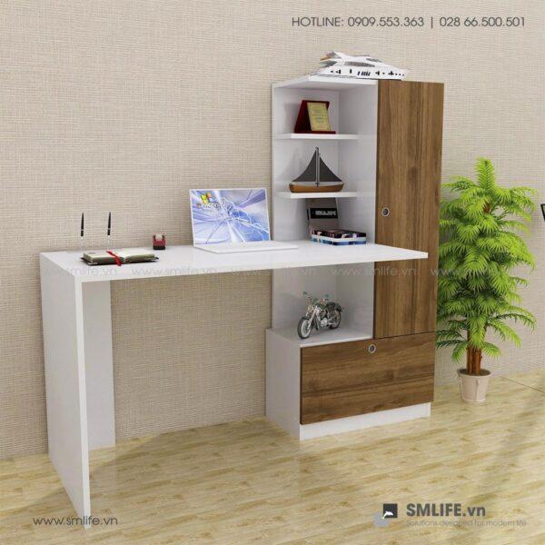 Bàn làm việc, bàn học gỗ hiện đại Devin (8)
