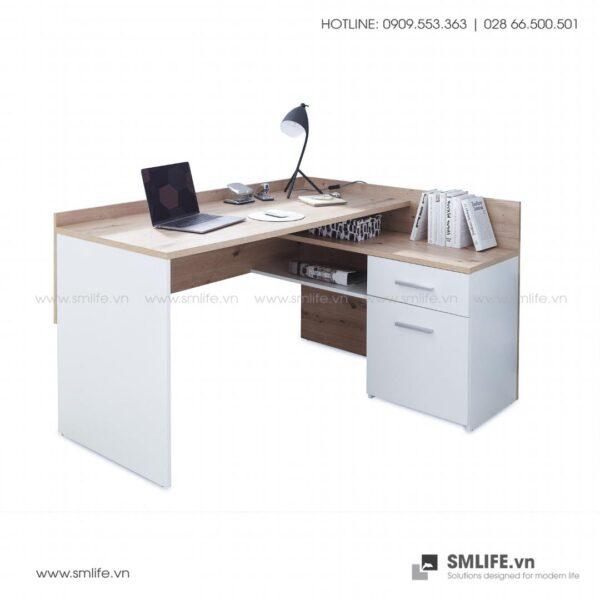 Bàn làm việc, bàn học gỗ hiện đại Dexter (1)