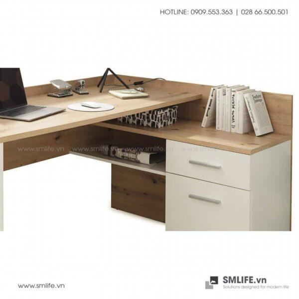 Bàn làm việc, bàn học gỗ hiện đại Dexter (3)