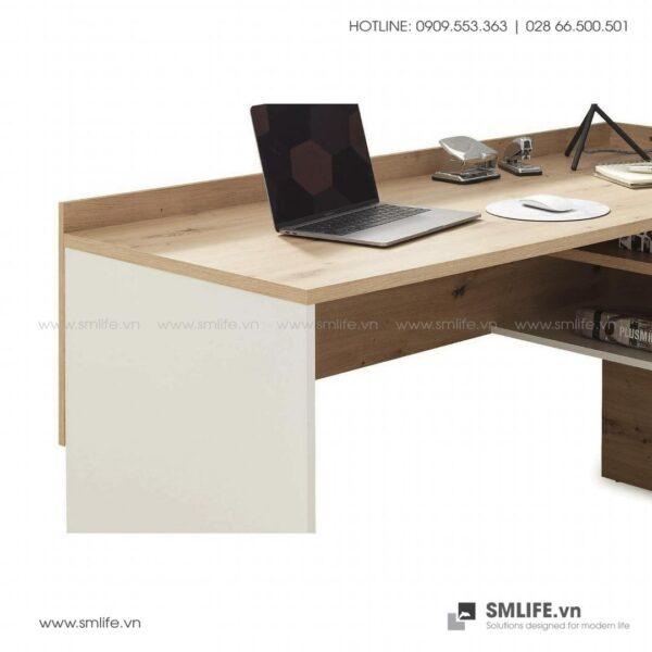 Bàn làm việc, bàn học gỗ hiện đại Dexter (4)
