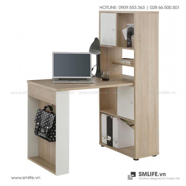Bàn làm việc, bàn học gỗ hiện đại Domenico (1)