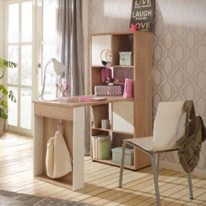 SMLIFE | Bàn làm việc, bàn học gỗ hiện đại Domenico