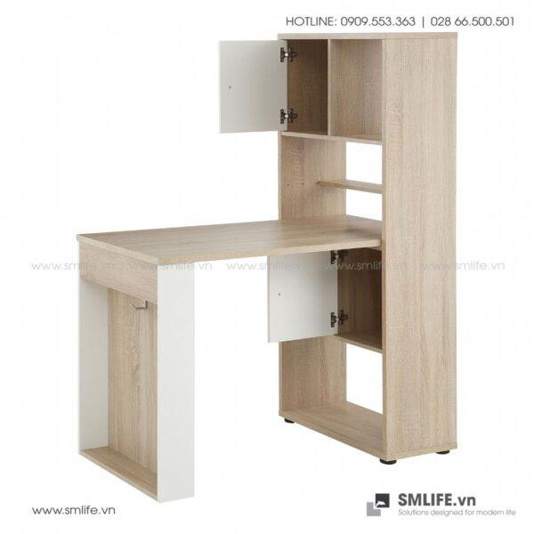 Bàn làm việc, bàn học gỗ hiện đại Domenico (7)