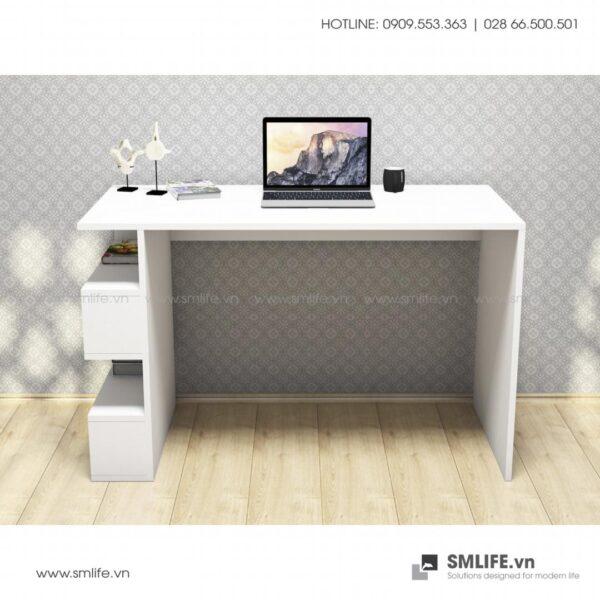 Bàn làm việc, bàn học gỗ hiện đại Domino (6)