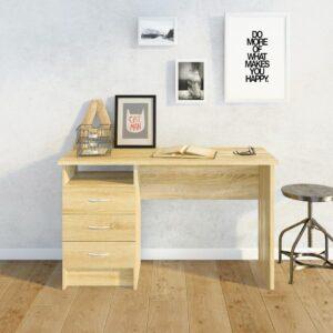 Bàn làm việc, bàn học gỗ hiện đại Drace (1)